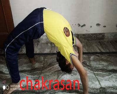 Yoga performance by student.